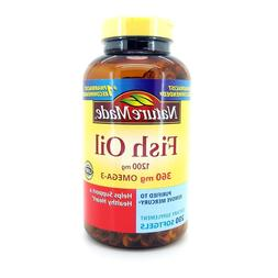 Nature Made Fish Oil 1200 mg  200 Liquid Softgels Ship fast