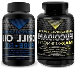 2 Bottles-Absonutrix Krill Oil Pure 500mg Omega 3,6+9 heart