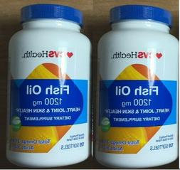 2 health fish oil 1200mg 120 softgels