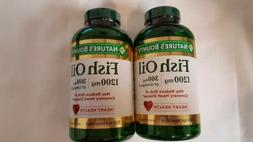2-Nature's Bounty  Fish Oil 1200 mg. 320 Softgels each Exp.