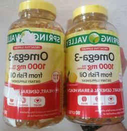 2Spring Valley Omega-3 From Fish Oil Heart General & Brain 1