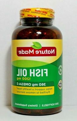 200 fish oil 1200mg 360 mg omega