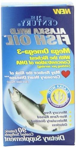 21st Century Alaska Wild Fish Oil Softgels, 90-Count  by 21s