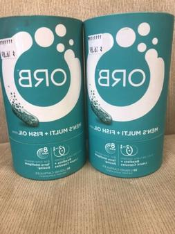 2x ORB Mens Multi Vitamin And Fish Oil. Expired 3/2019 Seale
