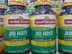 2x Nature Made Fish Oil 1200 mg 360mg Omega 3 Softgel 400 to