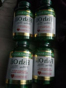 4 NATURES BOUNTY FISH OIL 1200mg 360mg omega-3 120 SOFTGELS