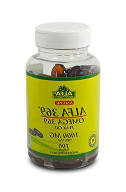 Alfa Vitamins Alfa 3-6-9 1000 Mg Nutrition Supplement, 100 C