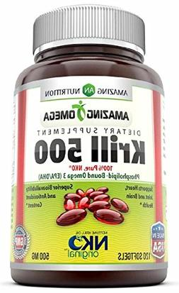 Amazing Omega Nko® Neptune Krill Oil - 500 Mg, 120 Softgels