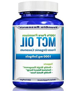 MCT Oil Capsules 100% from Organic Coconuts - 1000 mg 180 So