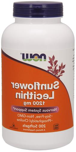 NOW Foods - Sunflower Lecithin Nervous System Support 1200 m