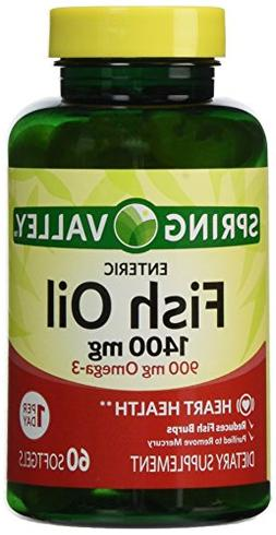 Spring Valley - Fish Oil 1400 mg, 60 Softgels