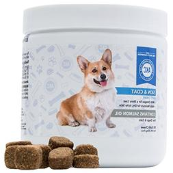 AKC Dog Skin and Coat Chews Supplements - With Salmon Oil -