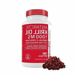 ANTARCTIC KRILL OIL 1000 mg with Astaxanthin 180 Softgels  B
