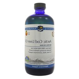 Nordic Naturals Arctic Cod Liver Oil Orange Liquid 16 oz - E