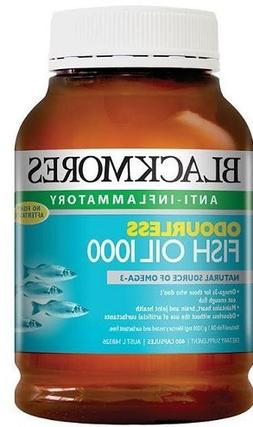 Blackmores ODOURLESS Fish Oil 1000 Capx400 * NEW *