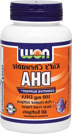 NOW Foods Kids Chewable DHA-60 Softgels