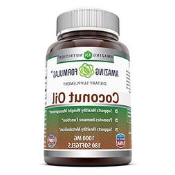 Amazing Nutrition Coconut Oil Capsules - 1000 Mg Per Softgel