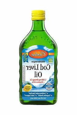 Carlson Cod Liver Oil Lemon 500ml