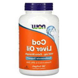 NOW Cod Liver Oil 1000 mg, 180 Softgels