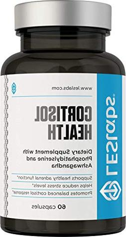 LES Labs Cortisol Health, Natural Supplement for Adrenal Sup