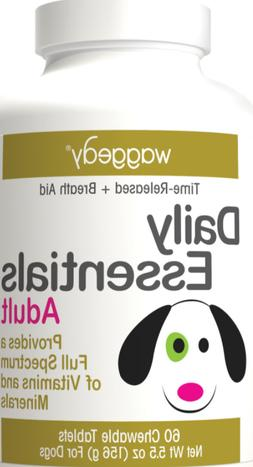 Waggedy Daily Essentials Multivitamin Adult Dog Supplement,