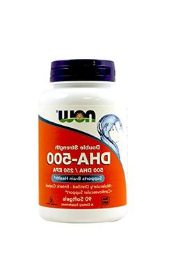 DHA, NOW, 90 softgels 500 mg