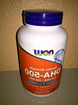 NOW Foods DHA - 500 mg, 180 Softgel