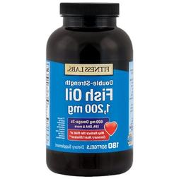 Fitness Labs Double Strength Fish Oil 1,200 mg, with 600 mg