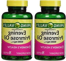 Spring Valley - Evening Primrose Oil 1000 mg,Twin Pack 150 T