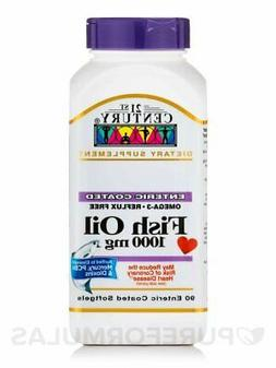 21st Century Fish, Oil 1000 mg Supplement, 90 Enteric Coated