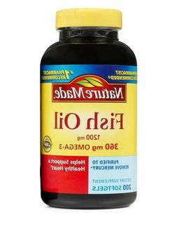Nature Made FISH OIL 1200 Mg  200 Count Liquid Softgels
