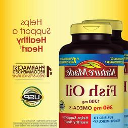 Nature Made Fish Oil 1200 mg., 400 Softgels for Heart Health