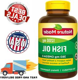 FISH OIL 1200 mg Omega 3 EPA DHA Support Healthy Heart Suppl