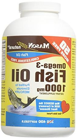 Mason Vitamins Fish Oil 1000mg Omega-3, 400 Softgels