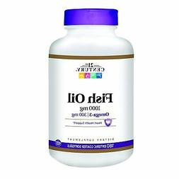 21st Century Fish Oil 1000 mg Enteric Coated Softgels, 180 C