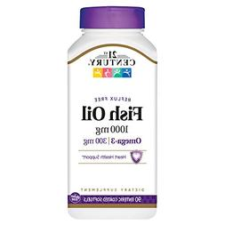 21st Century Fish Oil 1000 mg Enteric Coated Softgels, 90 Co