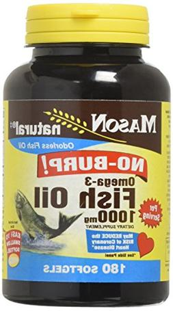Mason Vitamins No Burp Omega 3 Fish Oil, 1000 Mg, 60 Count