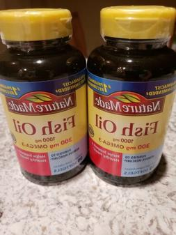 Nature Made Fish Oil Pills 1000mg 90 Softgels