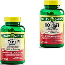 2-Pack Natures Bounty Fish Oil  Plus Vitamin D3  90 Rapid Re