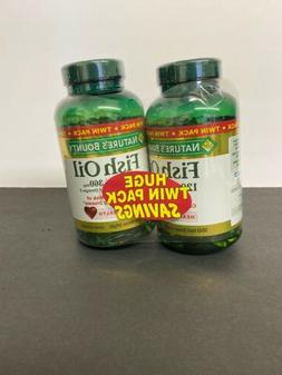 Nature's Bounty Fish Oil 1200mg Softgels - 180 Ct. Bottles -