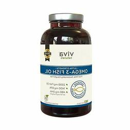 Viva Naturals Fish Oil Supplement, 180 Capsules - Highly Con