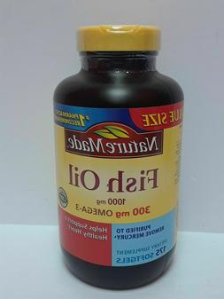Nature Made Fish Oil 1000 mg. w. Omega-3 300 mg Softgels Val