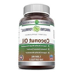 Amazing Formulas Coconut Oil - 1000 Mg, 360 Softgels - Suppo