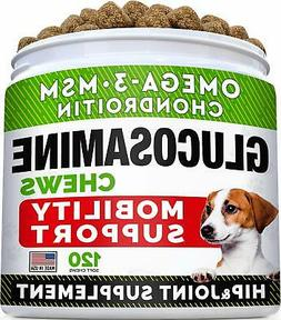 Glucosamine Treats for Dogs-Joint Supplement w/ Omega-3 Fish
