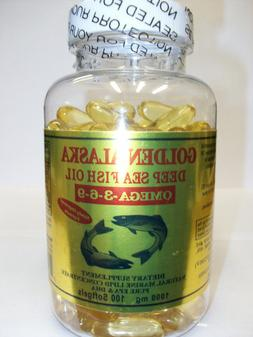 Golden Alaska Deep Sea Omega-3-6-9 Fish Oil 1000mg 100 Softg