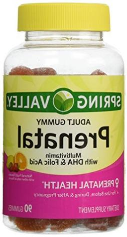 ONLY 1 IN PACK Spring Valley Adult Gummy Prenatal Multivitam