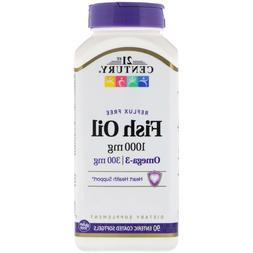 21st Century Health Care Fish Oil Reflux Free 1000 mg 90 Ent