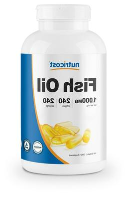 Nutricost High Quality Fish Oil 1000mg , 240 Softgels