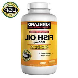 Kirkland Signature Fish Oil 1000 mg., 400 Softgels * FAST SH