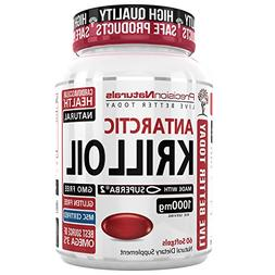 Krill Oil 1000mg/Serving Softgel Capsules Source of Pure Ome